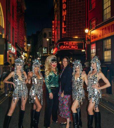 THE OPENING NIGHT PARTY OF LONDON FASHION WEEK AT THE WINDMILL SOHO