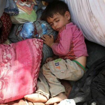 People have been sleeping on the streets in Kabul and in makeshift camps after fleeing their homes